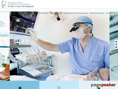 Strona www firmy P. Majewski - Klinika Implantologiczno-Stomatologiczna
