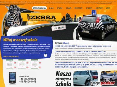 Strona internetowa firmy OSK Zebra