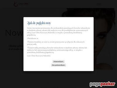 Strona www firmy Laser Clinic