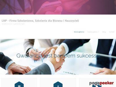 Strona www firmy Laboratorium Nowych Perspektyw