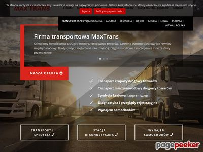 Oferta i dane firmy Max-Trans