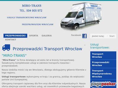 Strona www firmy Mirotrans