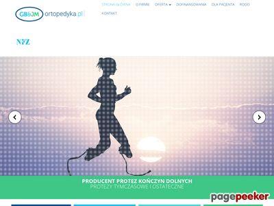 Strona www firmy Ortopedyka