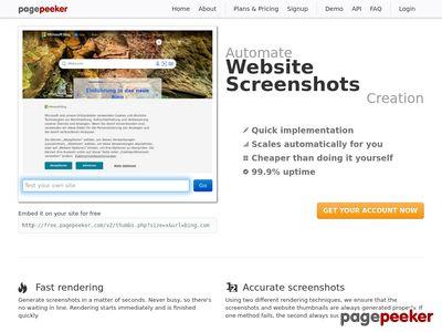 Strona www firmy Pasaż Mielec