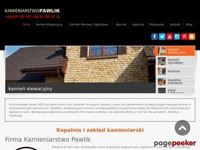 Strona www firmy PPU Kamieniarstwo Pawlik