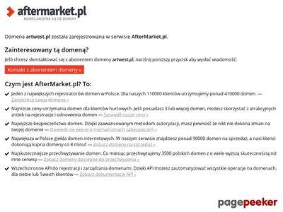Strona www firmy Artwest Usługi Transportowe