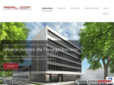 Strona www firmy REAL Obrót Nieruchomościami Sp. z o.o.