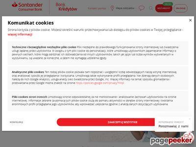 Oferta i dane firmy Santander Consumer Bank