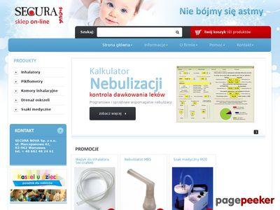 Strona www firmy Secura Nova