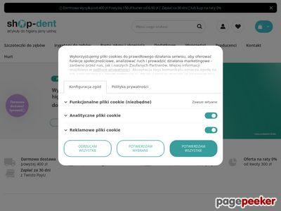 Strona www firmy SHOP DENT