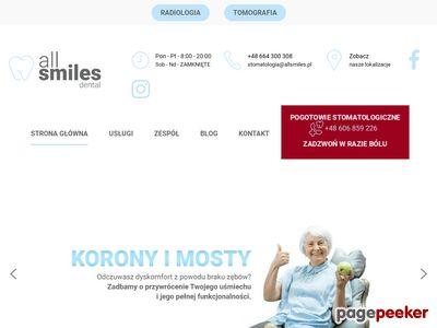 Strona www firmy Stomatologia Rodzinna MMK