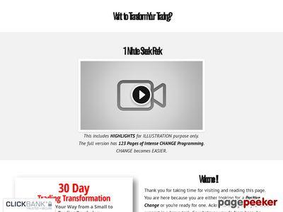 Trading Transformation — 30 Day Trading Transformation 1
