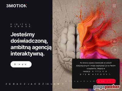 Agencja reklamowa 3motion Wrocław - projektowanie stron www