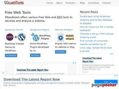 screenshot of 99webtools.com