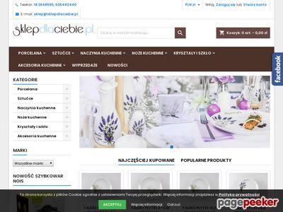 Porcelana: zestawy obiadowo-kawowe Lubiana i sztućce Gerlacha
