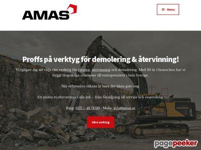 AMAS Svenska AB Demoleringsverktyg & Återvinningsverktyg - http://amas.se