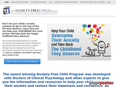 Overcome Child Anxiety - High Conversions - No Opt-in Available! 1