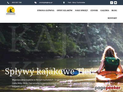 Spływy kajakowe bory tucholskie