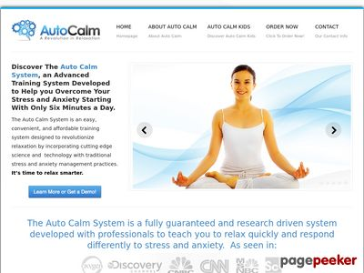 The Auto Calm System | Overcome Your Anxiety With ScienceThe Auto Calm System | Discover the Auto Calm System.  It's time to relax smarter. 1