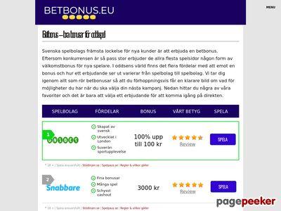 Bet Bonus - http://betbonus.nu