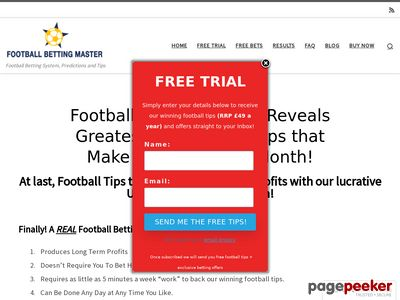 Football Betting Master – $69.04 Avg Commission. 2.65% Refunds!! bettingsystemfootball