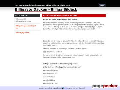 Billigaste Däcken - Billiga Bildäck - http://billigastedacken.n.nu