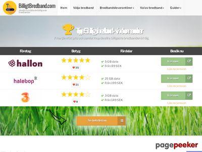Billigt bredband - j�mf�relse av bredbandsabonnemang - http://billigtbredband.com