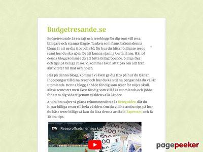 Budgetresande.se - Reseblogg för dig som vill resa billigare och stanna längre. - http://budgetresande.se