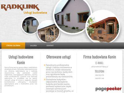 Usługi budowlane Konin - RADKLINK - firma budowlana