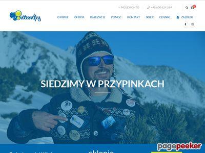 Przypinki reklamowe na zamówienie - Buttonfly.pl