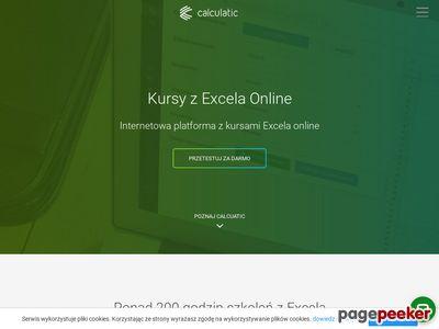 Calculatic - Aplikacja do nauki Excela