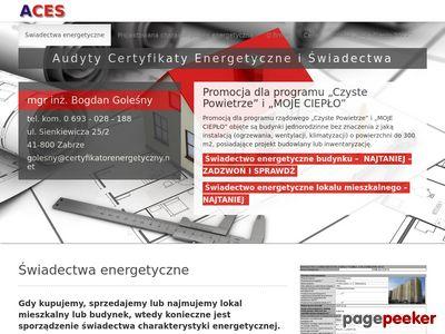 ACES-świadectwa energetyczne Śląsk PROMOCJA 200 zł - certyfikaty energetyczne-PPROMOCJA-NAJTANIEJ
