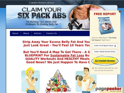 Claim Your Six Pack Abs: Fat Burning Tips, Meals and Workouts To Destroy Belly Fat 1