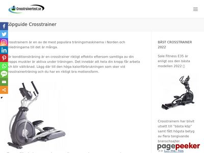 Crosstrainertest.se - testar crosstrainers. - http://crosstrainertest.se