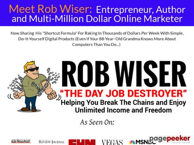 Rob Wiser the Day Job Destroyer | Rob Wiser reveals how to make money online with clickbank digital products 1