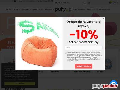 Meble oraz fotele relaksacyjne - pufy Ecopuf