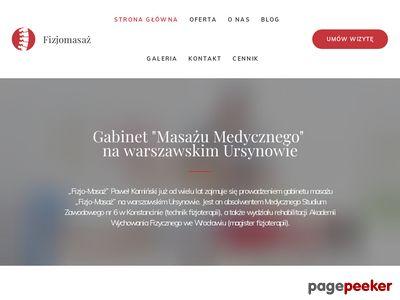 FIZJO- MASAŻ Masaż klasyczny warszawa Ursynów