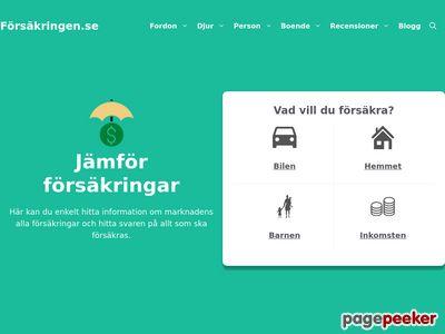 F�rs�kringen.se - J�mf�r och teckna f�rs�kringar - http://forsakringen.se