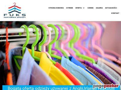 Hurtowania odzieży używanej najwyższej jakości