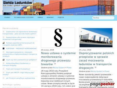 Blog Giełda Ładunków
