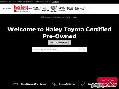 Haley Toyota Certified Sales & Service Center