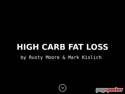 highcarbfatloss - Excessive Carb Fats Loss - by Rusty Moore & Mark Kislich
