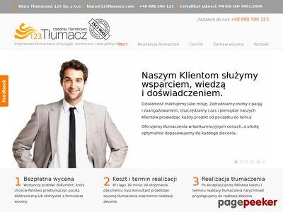 Tłumaczenia techniczne 123tlumacz.pl