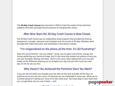 30 Day Crash Course – Transgender Voice Feminization