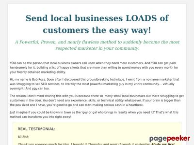 Send local businesses LOADS of customers the easy way!