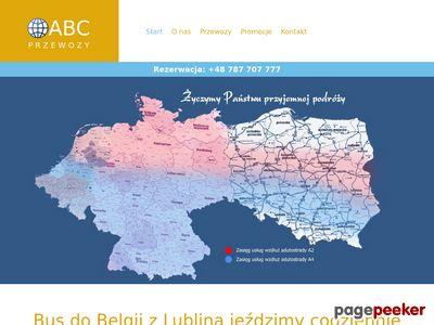BUSY DO BELGII z LUBLINA, busy do Holandii i Niemiec.