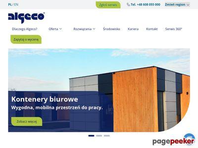 Kontenery socjalne wynajem - algeco.pl