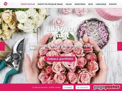 Amarant - kwiaty ślubne