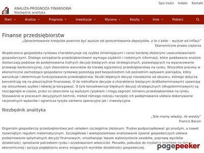 Paweł Grad - Analiza i prognoza finansowa