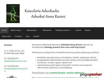 Porady Prawne Warszawa - Adwokat Anna Rurarz